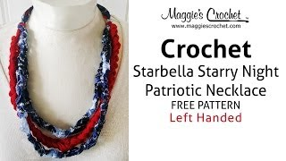Starbella & Starry Night Necklace Free Crochet Pattern - Left Handed