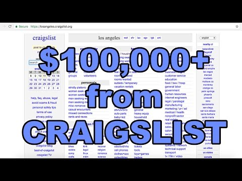 How I make SIX FIGURES from posting Real Estate listings on Craigslist