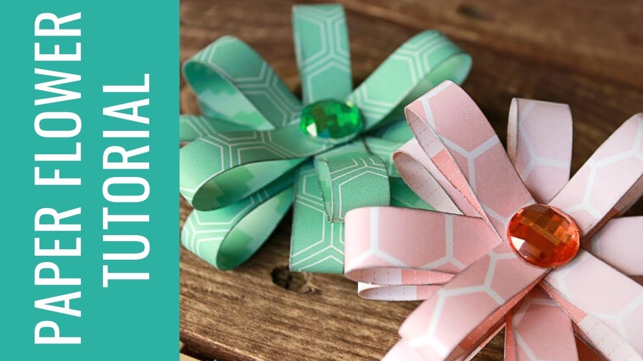 How to Make Easy Flowers with Paper Loops