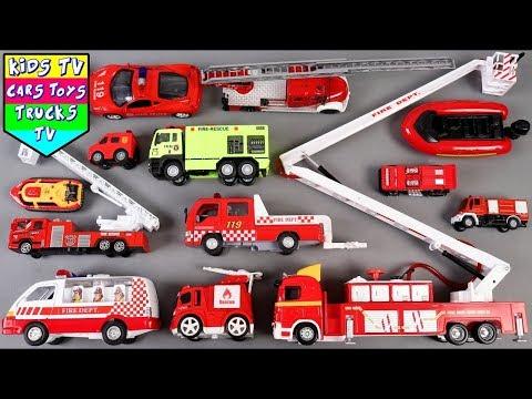 🔴 New Fire Vehicles For Kids Children Babies Toddlers   Fire Truck Song For Kids Children Toddlers