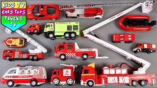 🔴 Fire truck vehicle video and song for children