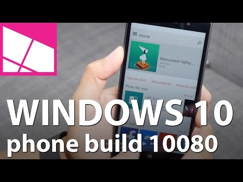 Windows 10 preview for phone build 10080