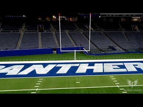 GSU Stadium Drone Footage 4K