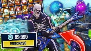 *BUYING* Every SKIN & ITEM in Fortnite! (How Much Money Does It Cost?)