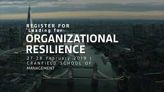 Organizational Resilience Training Ad