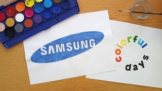 How to draw the Samsung logo (100,000 views)