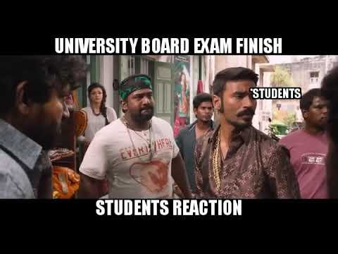 Student reaction in board exam finish tamil memes - YouTube