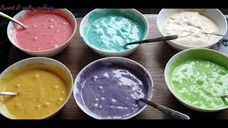 How to make best Rainbow cake...BTS cake specially for BTS fans