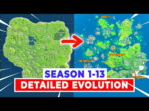 Season 1-13 FORTNITE Map Evolution