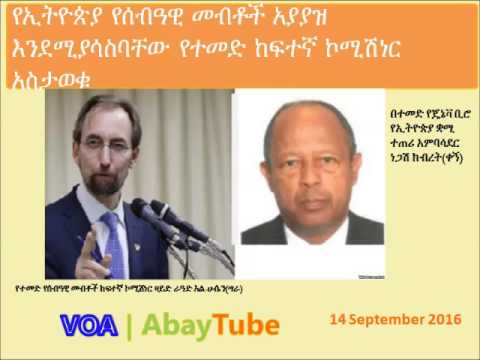 United Nations High Commissioner for Human Rights announces the human right abuse in Ethiopia