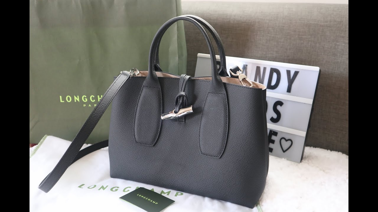 LONGCHAMP ROSEAU TOP HANDLE | UNBOXING AND REVIEW | WORN BY SE-RI OF CRASH  LANDING ON YOU