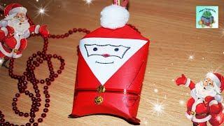 КАК СДЕЛАТЬ НОВОГОДНЮЮ ИГРУШКУ ДЕД МОРОЗ ИЗ БУМАГИ СВОИМИ РУКАМИ. New Year's toy. (DIY, Handmade).