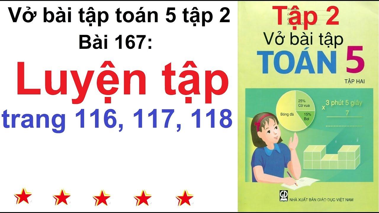 Vở bài tập toán lớp 5 – Bài 167 – Luyện tập trang 116, 117, 118