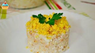Ну, оОчень вкусный - Салат из Риса с рыбой!