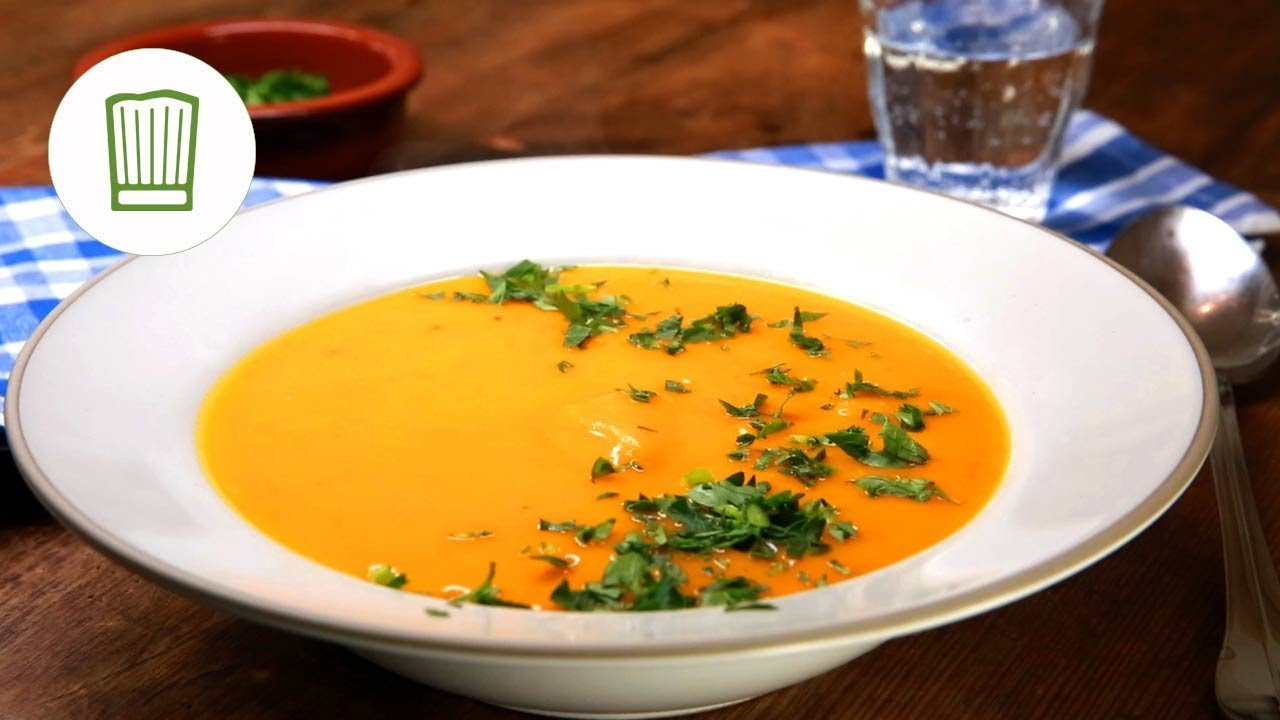 Hokkaido-Kürbissuppe Rezept #chefkoch - YouTube