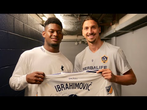 JuJu Smith-Schuster Meets Zlatan Ibrahimovic