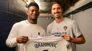 JuJu Smith-Schuster Meets Zlatan Ibrahimovic