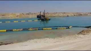 Drilling and Dredging new Suez Canal March 21, 2015