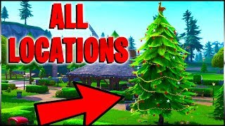 Fortnite Battle Royale - All Holiday Tree Location Guide - 14 Days Of Fortnite