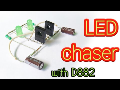 LED Chaser With D882 Transistor || By Es Tech Knowledge