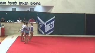 ענבל מאיו- תרגיל שלישיה- טמפו- אליפות ישראל באקרובטיקה