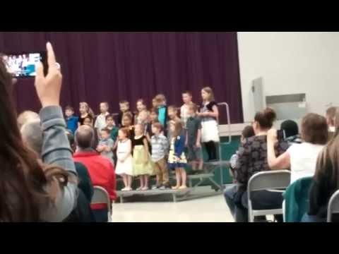 Sawyer Woods Elementary School 1st grade choir performance 2015