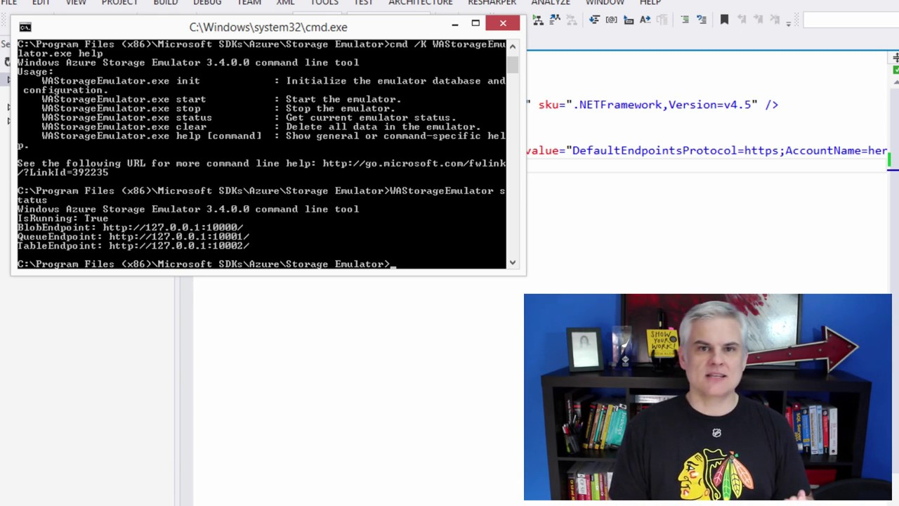 06 Using the Azure Storage Emulator for Development and Testing