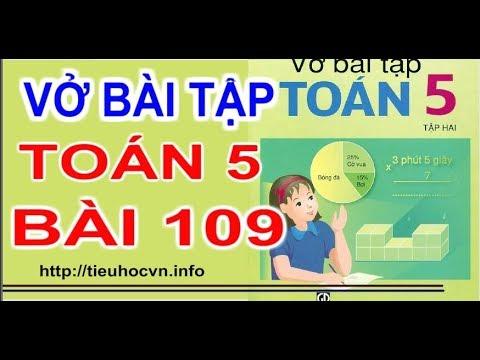 Vở bài tập  Toán  5 Bài 109 Luyện tập chung  diện tích toàn phần hình hộp chữ nhật trang  28