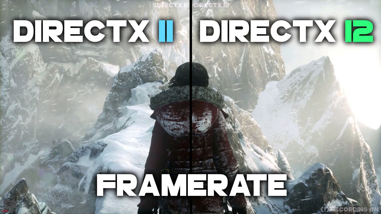 Rise Of The Tomb Raider DirectX 12 vs DirectX 11 | GTX 1070 Frame Rate  Comparison