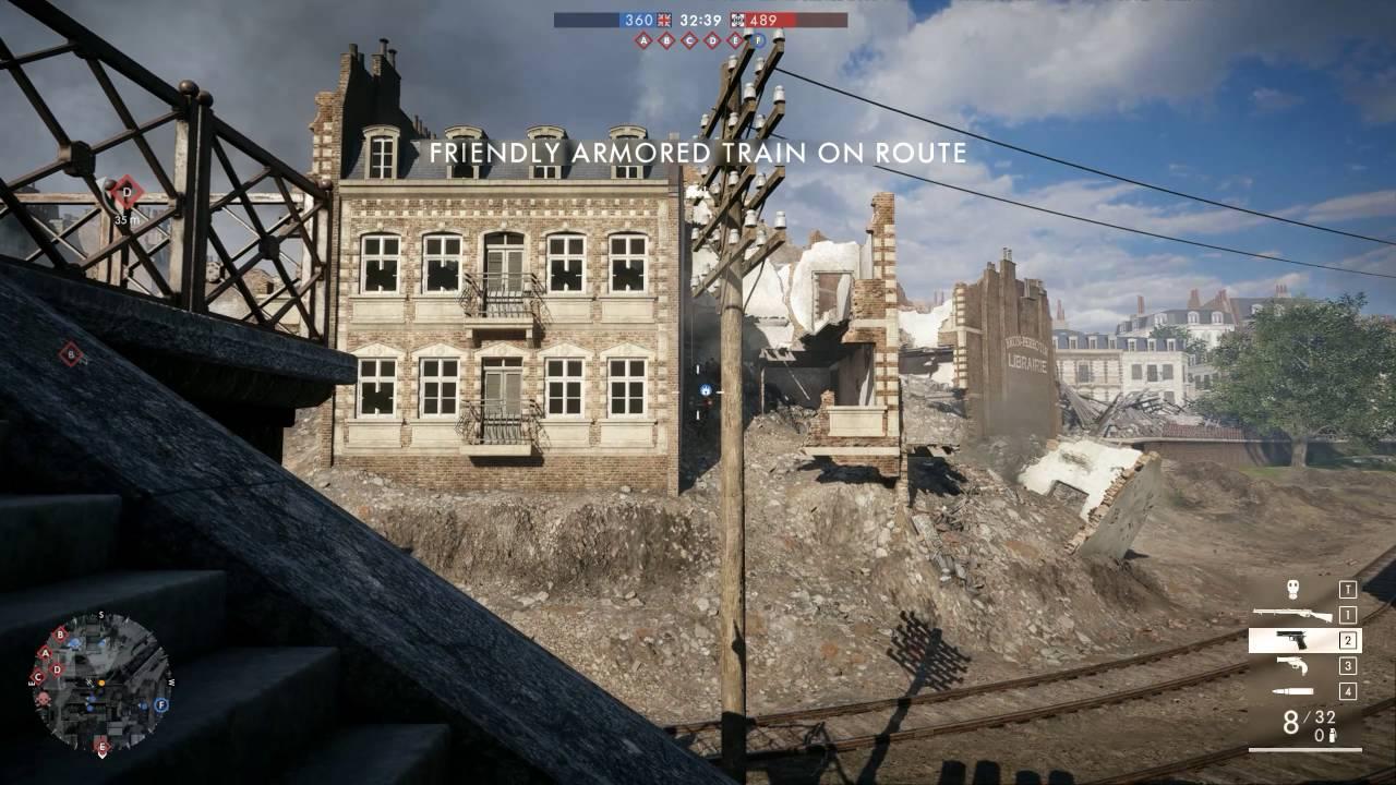 Amiens Battlefield 1 Map