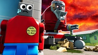 MEGA LEGO SANTA ATTACKS LEGO CITY?! (Brick Rigs Gameplay & Roleplay)