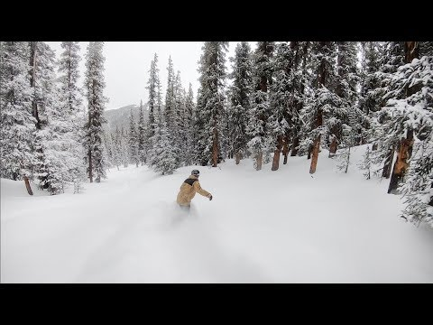 Snowboarding Untouched Powder Lines At Keystone Colorado - (Season 3, Day 84)