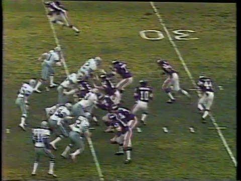 1975 NFC Playoffs Dallas at Minnesota Hail Mary