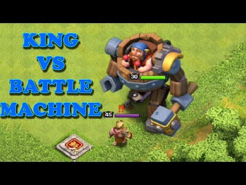 MAX BATTLE MACHINE VS MAX KING | WHO WINS - 1 VS 1 - DUEL TO DEATH I Clash of Clans |