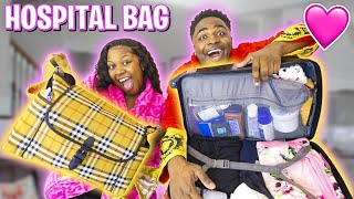 WHAT'S INSIDE OUR HOSPITAL BAG FOR GIVING BIRTH? (The Baby Almost HERE!!!)