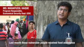 In Bangladesh, ICRC distributes food to 19,000 displaced people