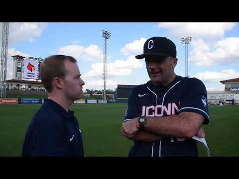UConn Baseball Head Coach Jim Penders Louisville, Feb. 17, 2019