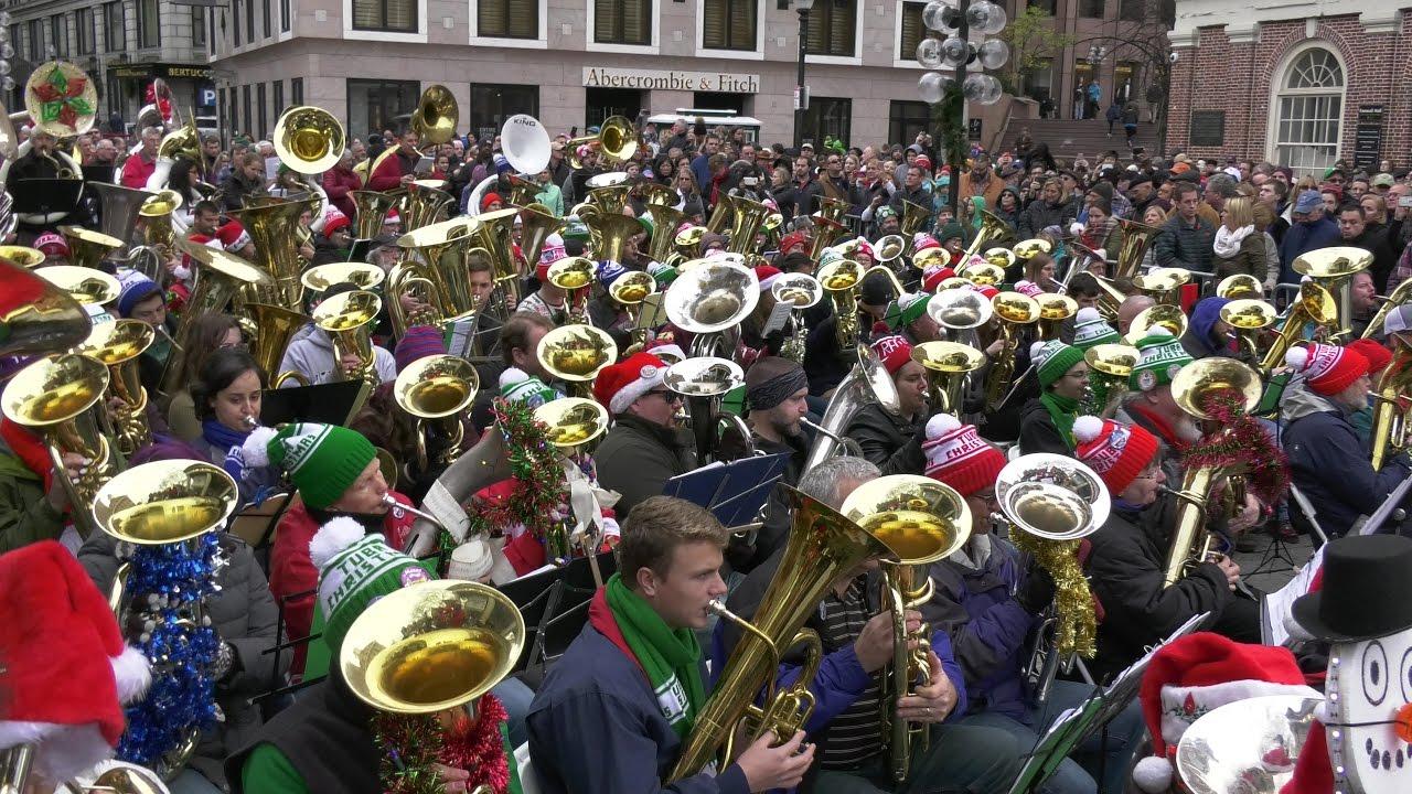 Merry Tuba Christmas 2020 Boston Boston Tuba Christmas 2016   Panasonic UX90   4K video!   YouTube