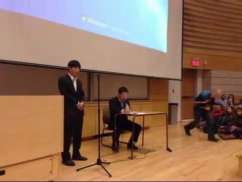Shin Dong-hyuk speaks at Dalhousie PART 1