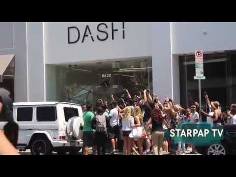 Khloé And Kourtney Kardashian At The DASH Store In LA