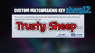 🔴 Fortnite - Custom Matchmaking Code :sheep (NAEAST) SOLO DUO SQUADS