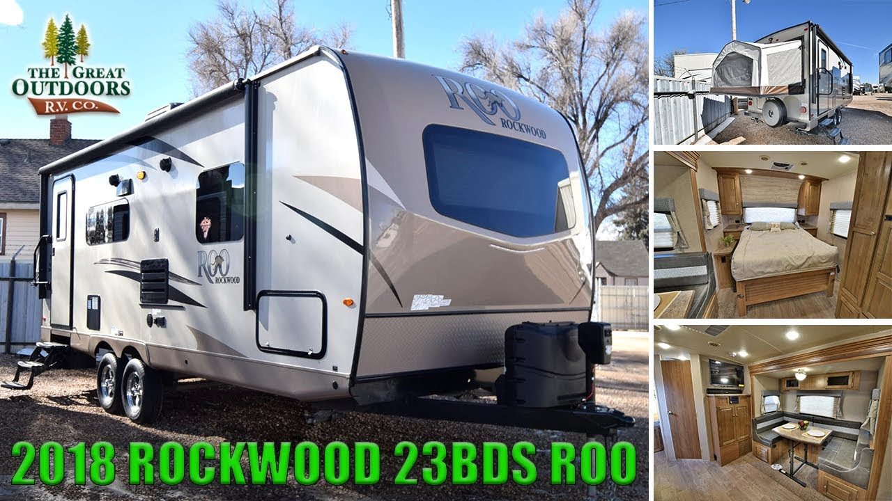 New 2018 Tip Out Murphy Bed Combo Hybrid Rockwood 23bds Roo Pop Out Rv Camper Colorado Dealer