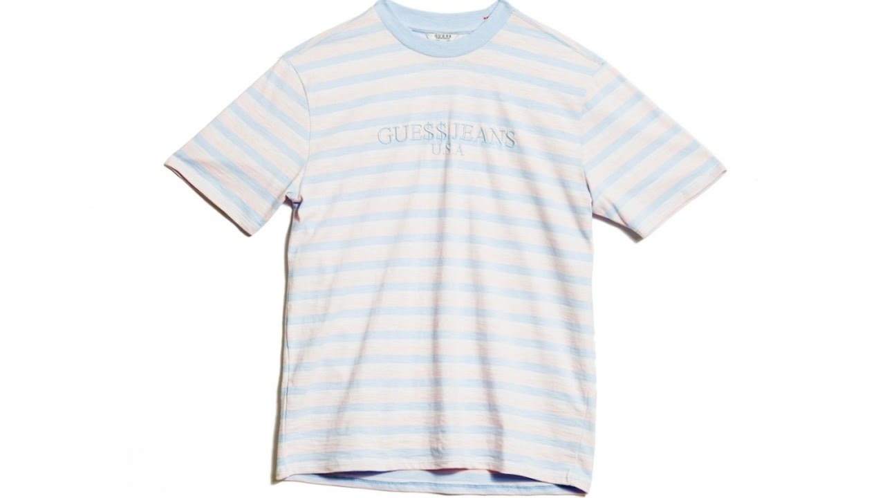 d15c9facdc GUESS x ASAP ROCKY 3 STRIPE TEE COTTON CANDY