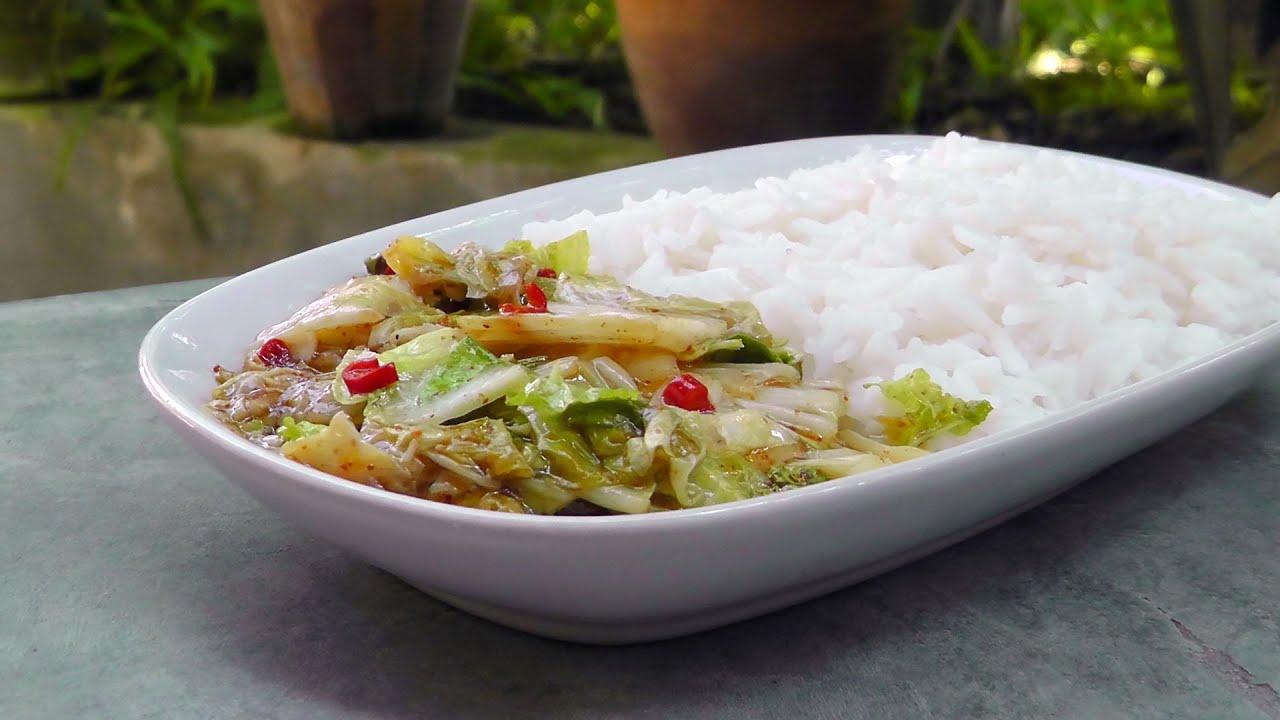 Chinesischer Scharf Saurer Chinakohl Vegan Vegetarisches Rezept