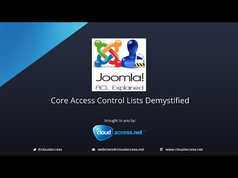Joomla 3 ACL Explained