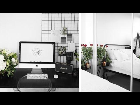 BEDROOM TOUR   Fresh, black & white style // Rachel Aust
