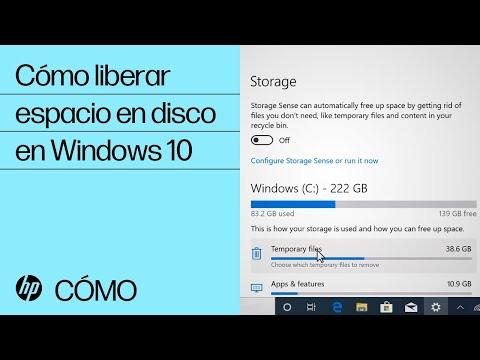 Cómo liberar espacio en disco en Windows 10 | Equipos HP | HP
