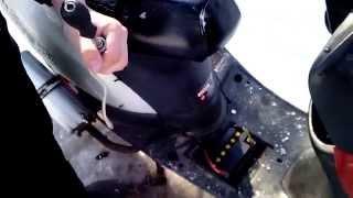 Скутер ШТОРМ  2т   какой-то там  пригнали на ремонт  !  в ушатаном состоянии !
