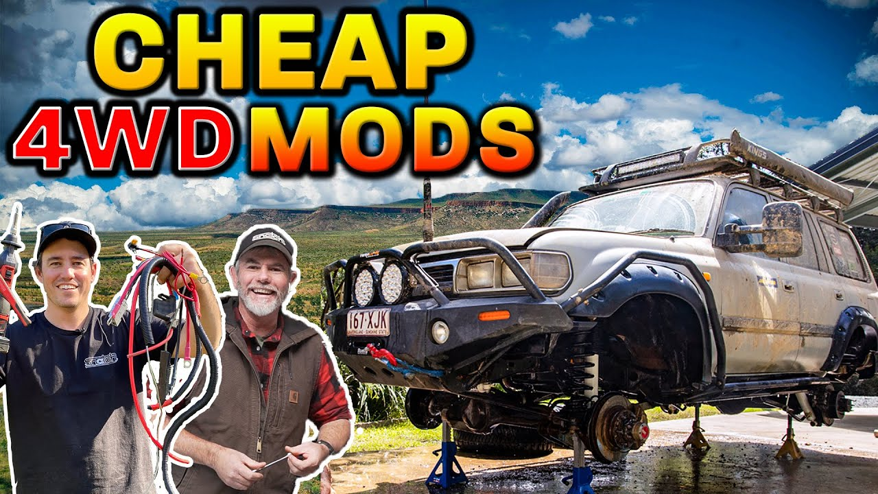 50+ DIY UPGRADES anyone can do! Simple, effective and clever ways to make your 4WD better!