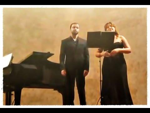 Marina Sánchez y Josué González.Audición Canto Auditorio San Blas. Salamanca.Junio 2015